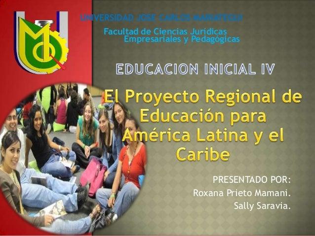 proyecto de educacion de américa latina  y el caribe