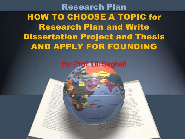 write project plan dissertation Dissertation and project writing academic skills guide 2 writing a dissertation or project report can be daunting for three main planning your writing.