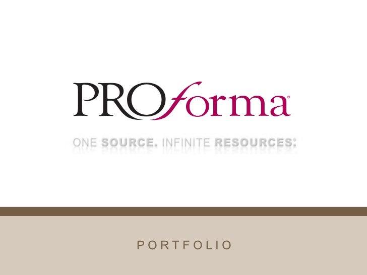 Proforma Portfolio 2011- Joe Noonan