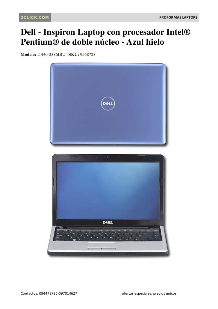 2CLICK.COM                                                    PROFORMAS LAPTOPS   Dell - Inspiron Laptop con procesador In...