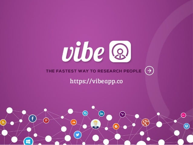 Investor pitch deck for Vibe