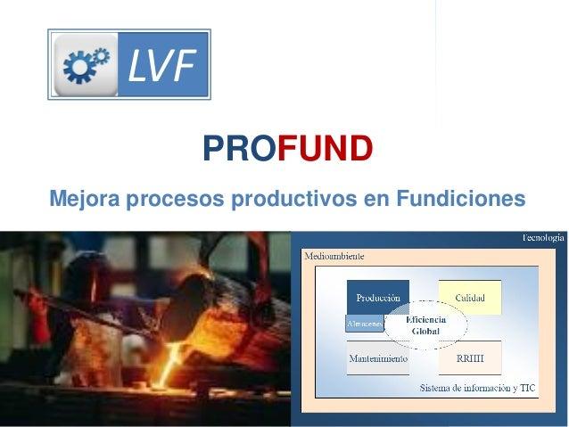 Dirección de la ProducciónProductividad integral LVF PROFUND Mejora procesos productivos en Fundiciones LVF