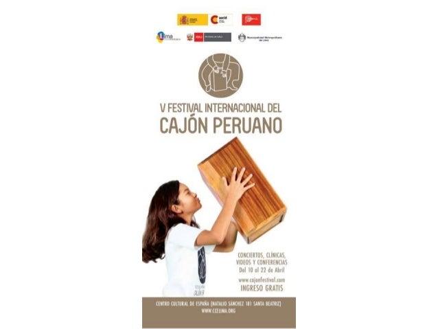 Prog. V Festival Internacional de Cajon 2012