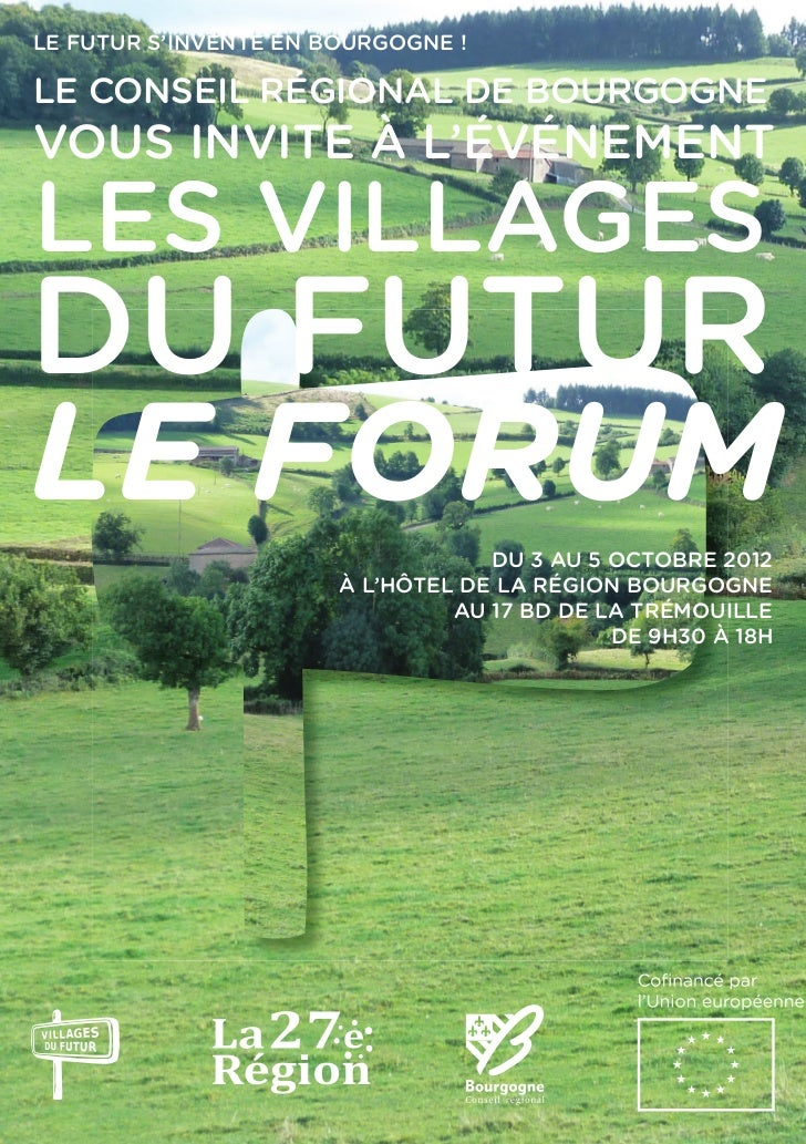 Forum des villages du futur / Programme