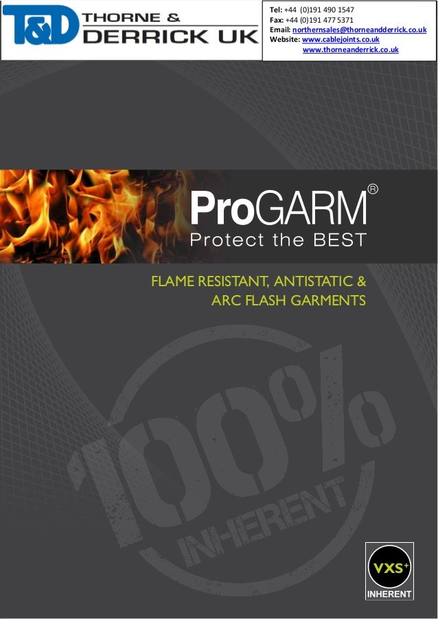 ProGARM Flame Resistant , Anti-Static, High Visibility & Arc Flash Garments - Protective Clothing - Coveralls, Trousers, Jackets, Sweatshirts & Polo Shirts