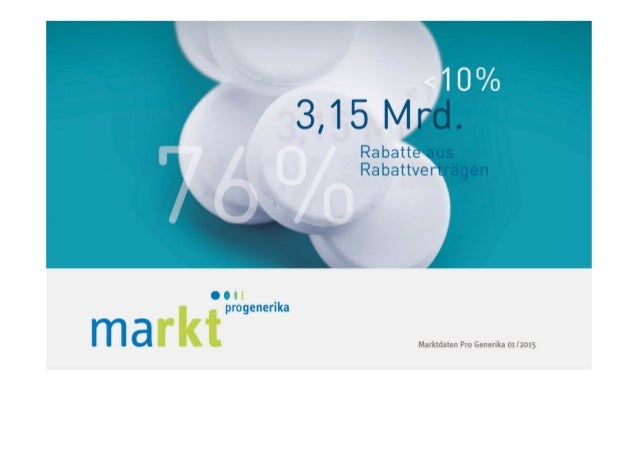 2 MARKT IM ÜBERBLICK Kapitel 1 | Marktdaten von Pro Generika 01/2015