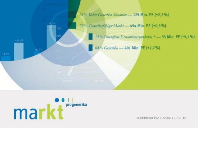 Marktdaten Pro Generika 07/2013
