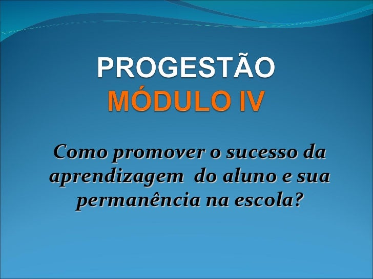 Progestão modulo 4