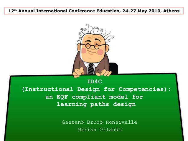 ID4C(Instructional Design for Competencies):an EQF compliant model forlearning paths designGaetano Bruno RonsivalleMarisa ...