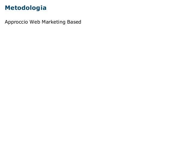 Metodologia  Approccio Web Marketing Based