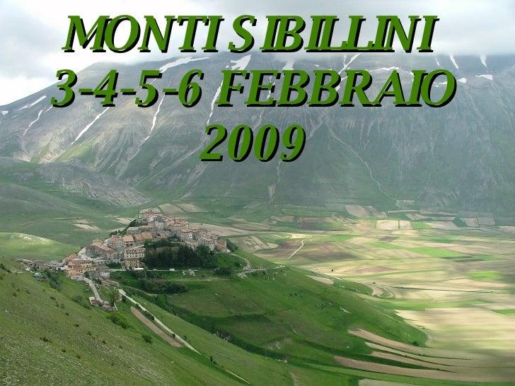Progetto Sibillini 2009