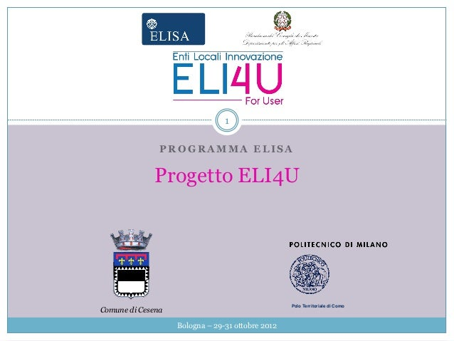 Progetto ELI4U - Smart City Exhibition 2012
