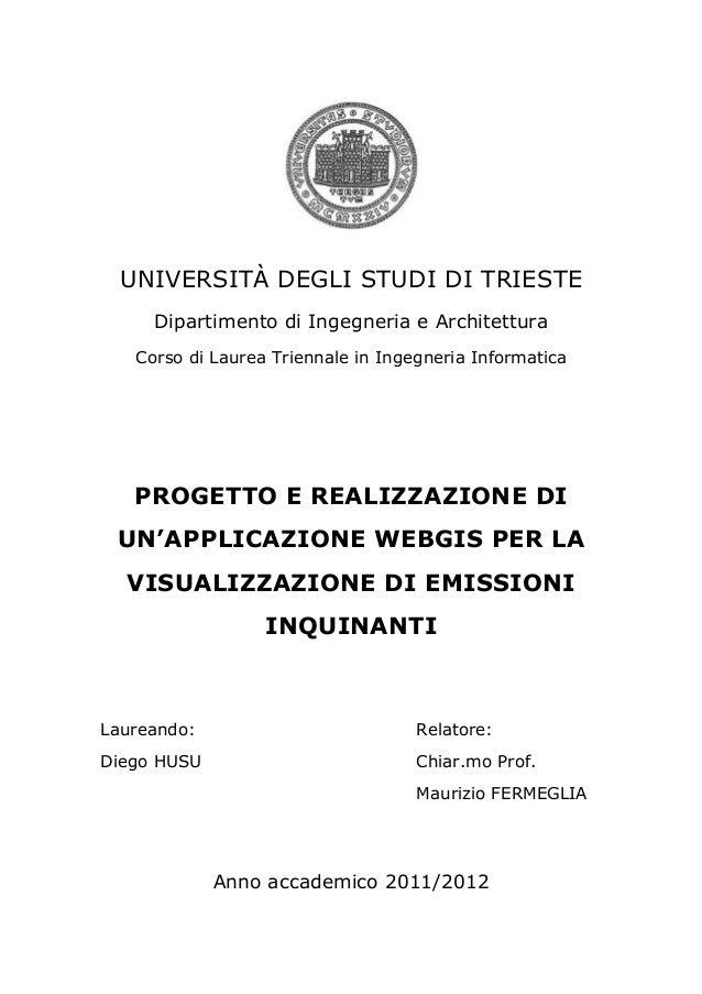 UNIVERSITÀ DEGLI STUDI DI TRIESTE     Dipartimento di Ingegneria e Architettura   Corso di Laurea Triennale in Ingegneria ...