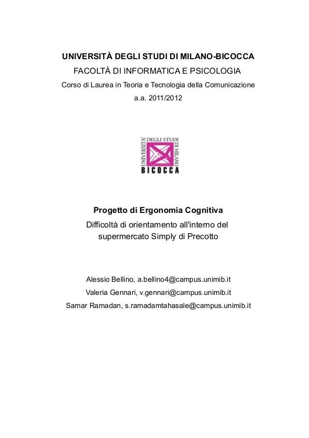 UNIVERSITÀ DEGLI STUDI DI MILANO-BICOCCAFACOLTÀ DI INFORMATICA E PSICOLOGIACorso di Laurea in Teoria e Tecnologia della Co...