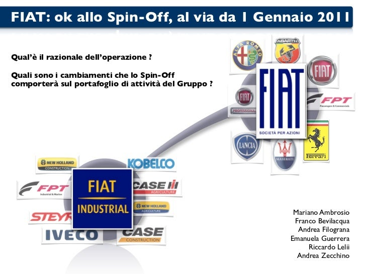FIAT INDUSTRIAL SPIN OFF