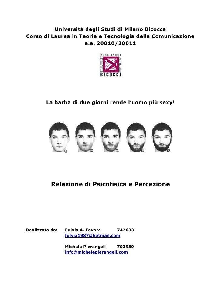 Università degli Studi di Milano BicoccaCorso di Laurea in Teoria e Tecnologia della Comunicazione                     a.a...