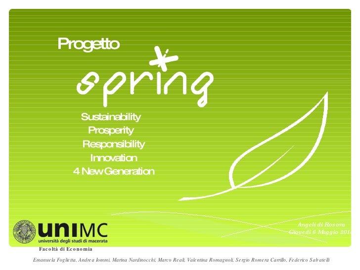 Progetto Spring