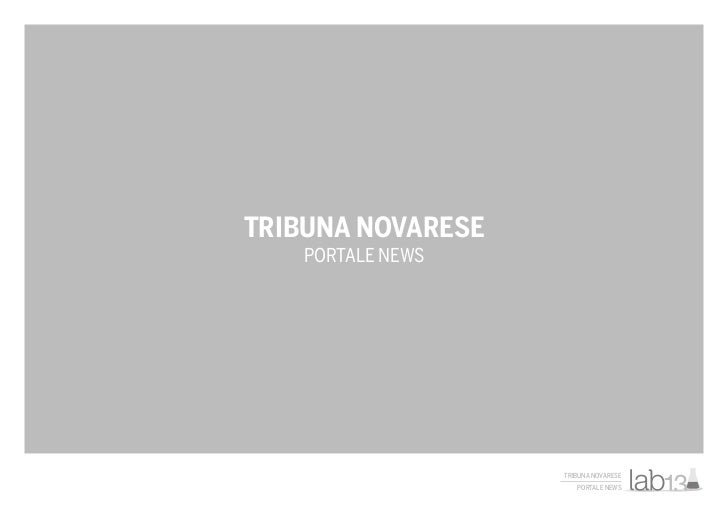 Tribuna Novarese, a CMS Project