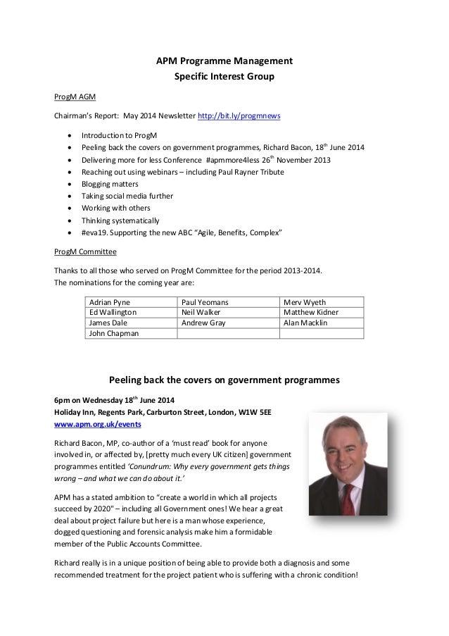 APM Programme Management SIG flyer   29-5-14