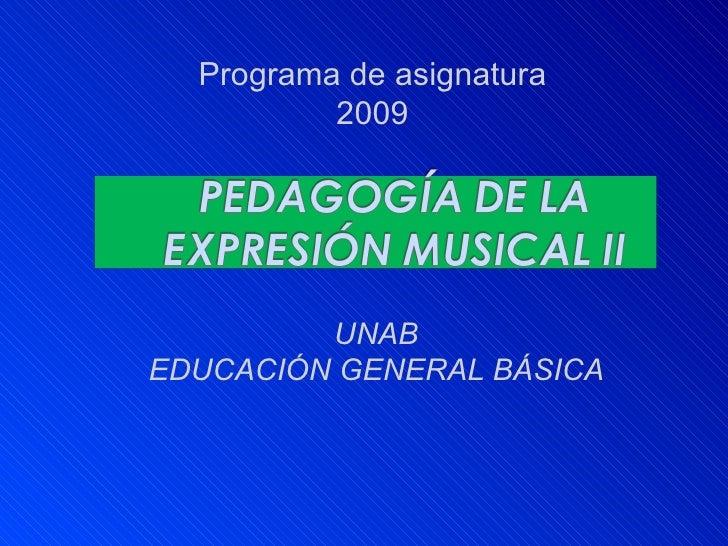 Música II Unab 2009
