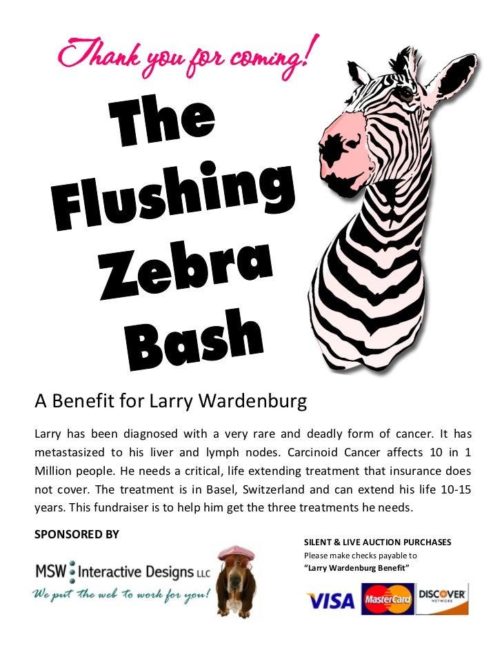 The Flushing Zebra Bash Event Program