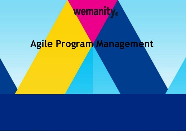 t  Agile Program Management