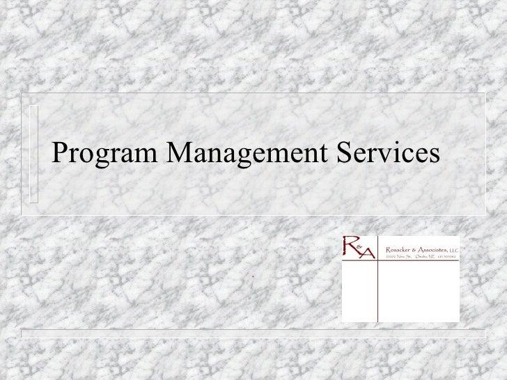 Program Management Slide Show