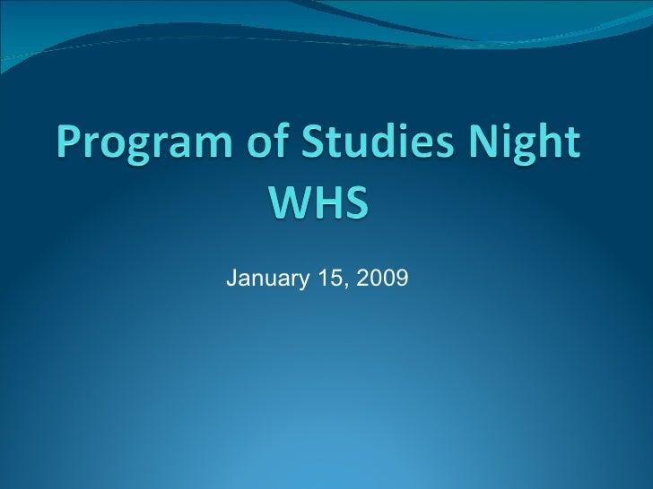 January 15, 2009