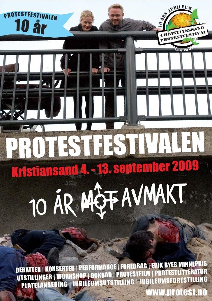 Programblad for Christianssand Protestfestival 2009