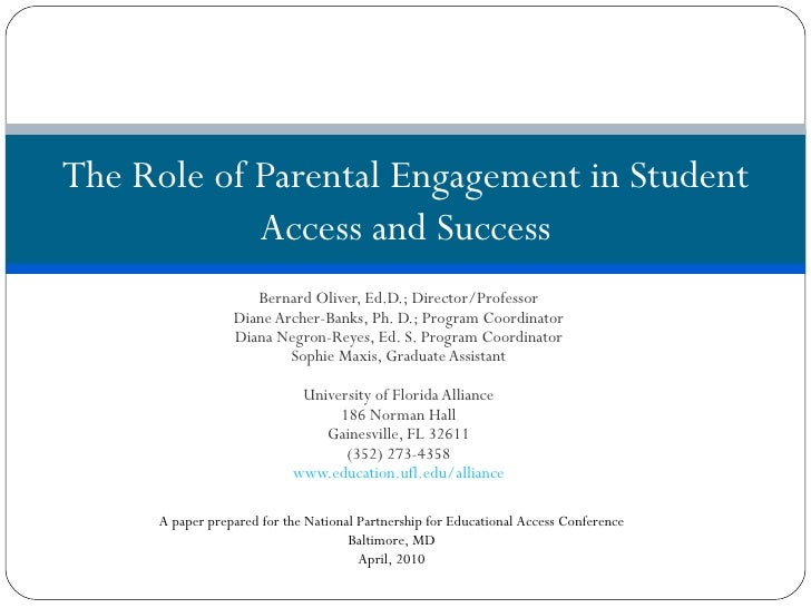 Program: The Role of Parent Engagement in Student Access and Success
