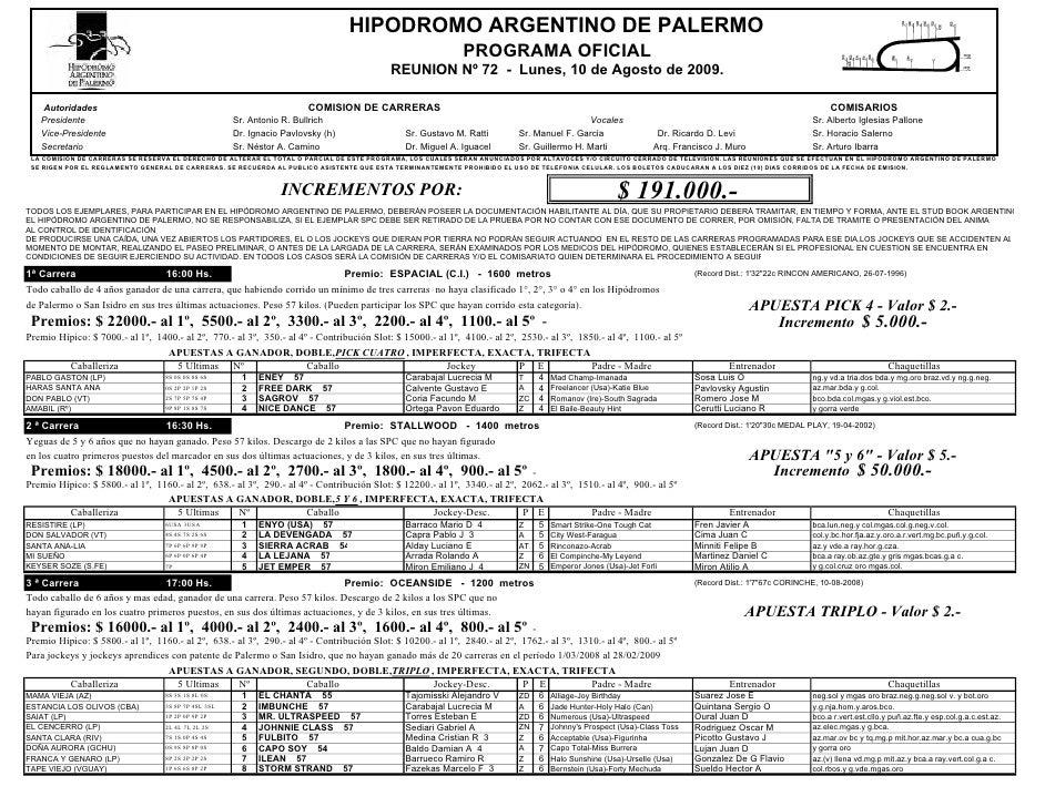 HIPODROMO ARGENTINO DE PALERMO                                                                                            ...