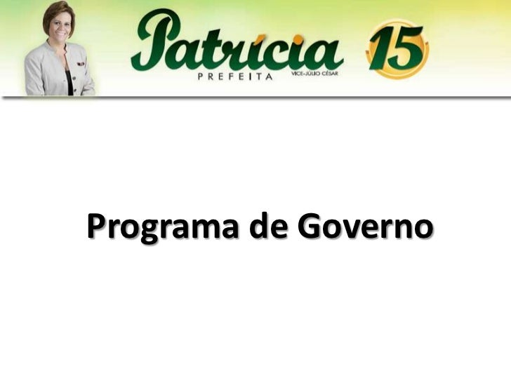 Programa de Governo - Patrícia Aguiar