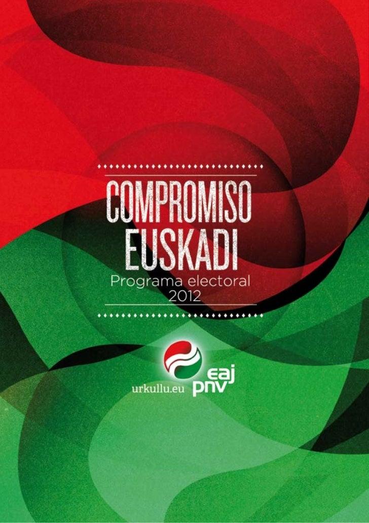 Programa electoral de EAJ-PNV Euskadi Aurrera
