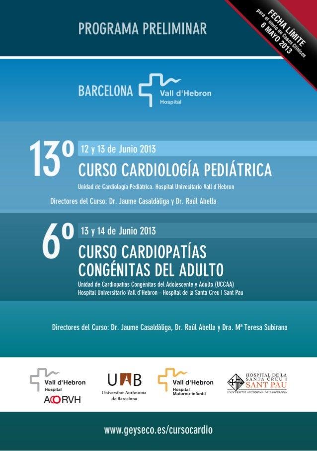 13º Curso de Cardiología Pediátrica &  6º Curso de Cardiopatías Congénitas del Adulto