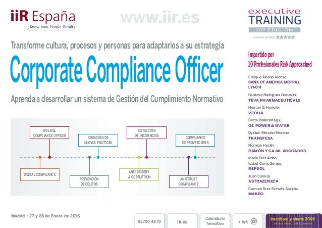 Programa corporate compliance officer - Corporate compliance officer ...