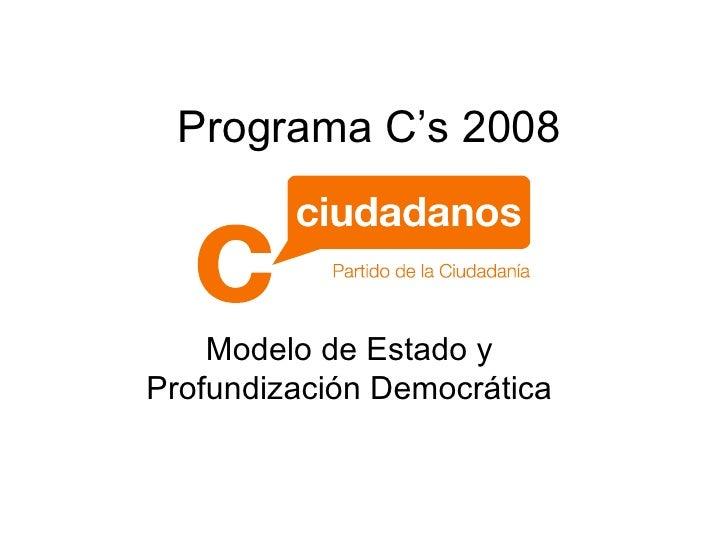 Programa C'S 2008