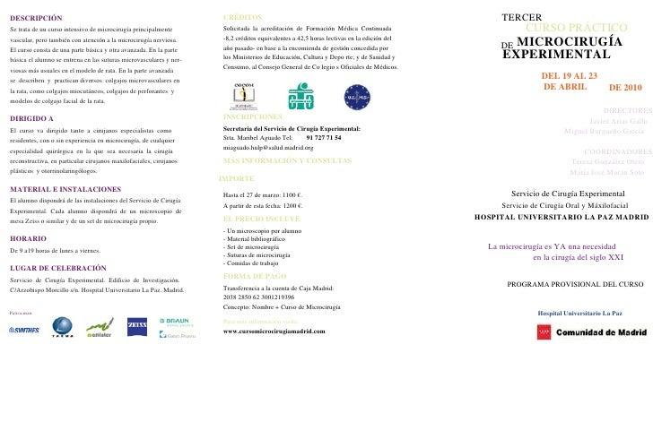 Programa Curso Microcirugia.