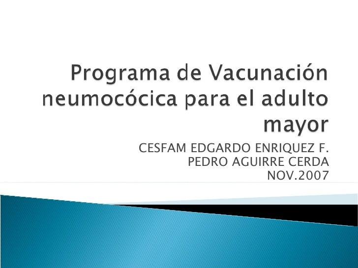 Programa De VacunacióN NeumocóCica Para El Adulto Mayor