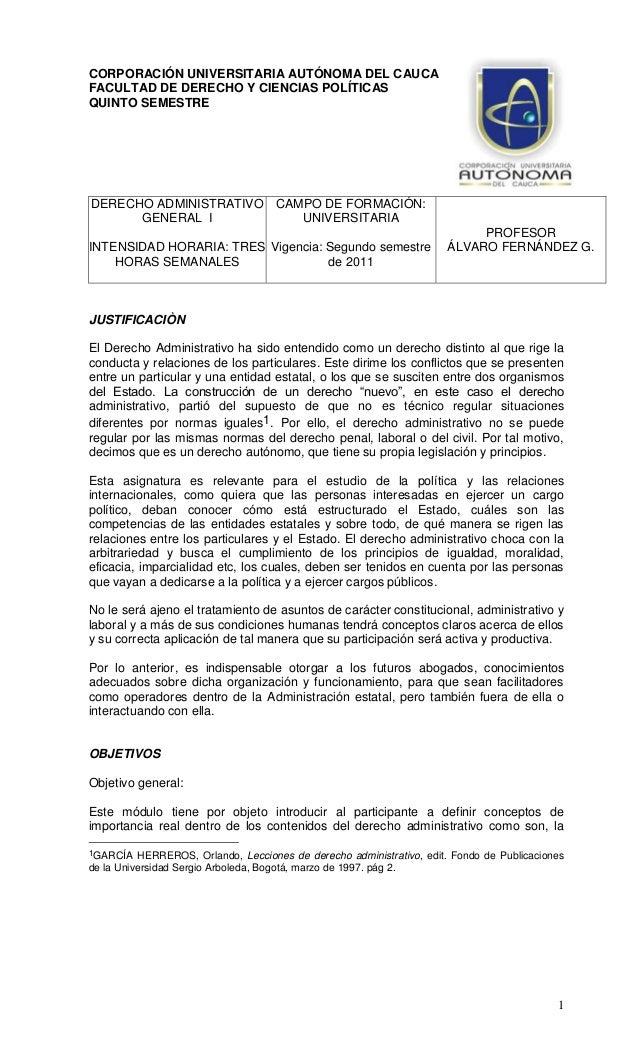 Derecho Administrativo Colombiano