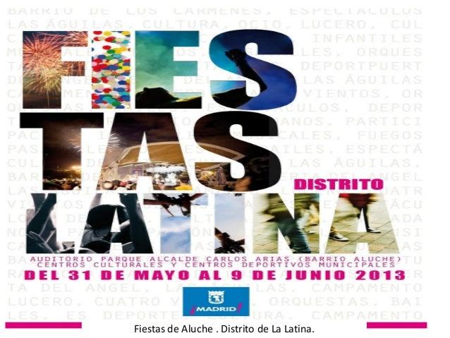 Programa fiestas Aluche 2013