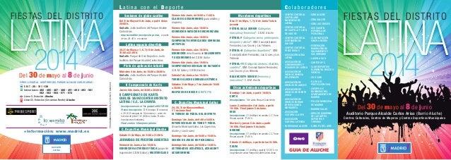 Programa Fiestas Aluche 2014