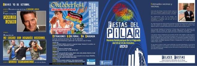 Programa fiestas Barrio del Pilar 2013