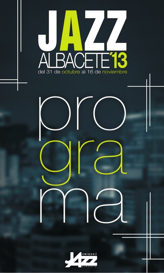 Programa jazzalbacete 2013