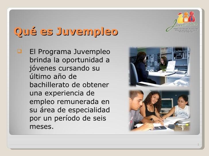Programa Juvempleo 2008