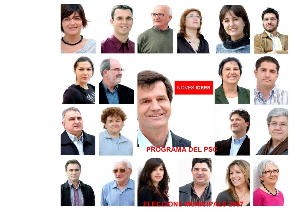 PROGRAMA DEL PSC     ELECCIONS MUNICIPALS 2007
