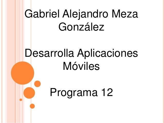 Gabriel Alejandro Meza González Desarrolla Aplicaciones Móviles Programa 12