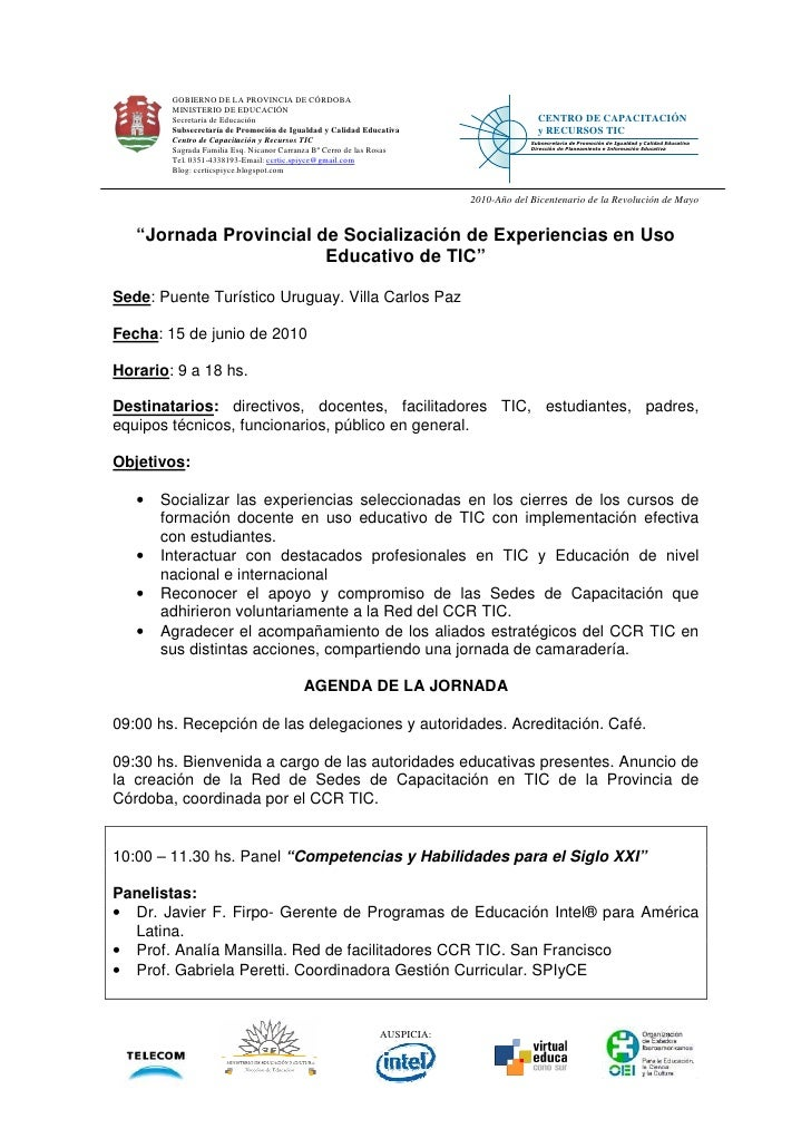 GOBIERNO DE LA PROVINCIA DE CÓRDOBA         MINISTERIO DE EDUCACIÓN         Secretaría de Educación                       ...