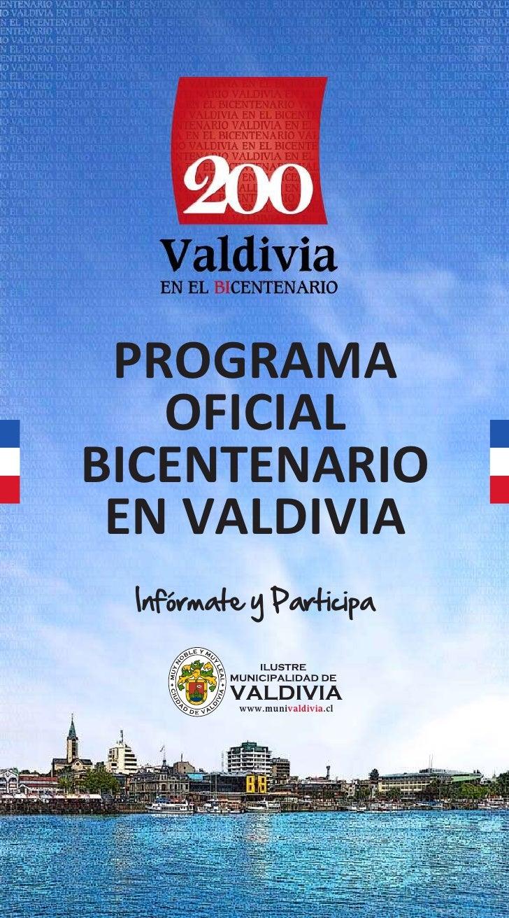 Programa bicentenario en valdivia 200 años