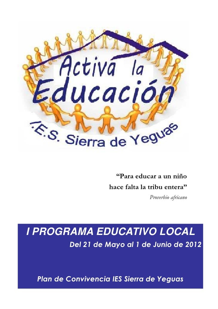 Programa activa la educación sierra de yeguas