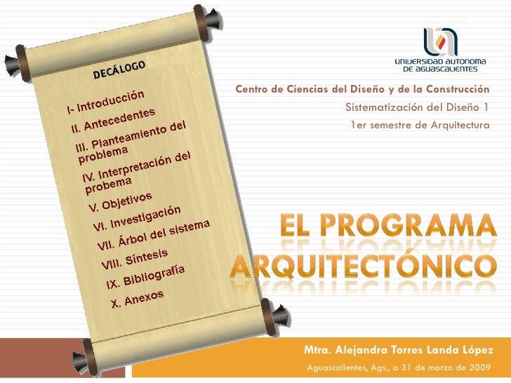 Programa arquitectonico en la uaa for Programa arquitectonico